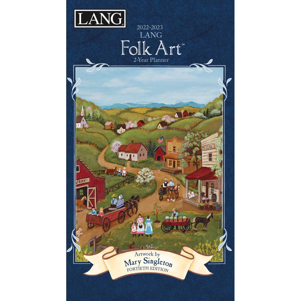 Lang Folk Art 2022 Two Year Planner