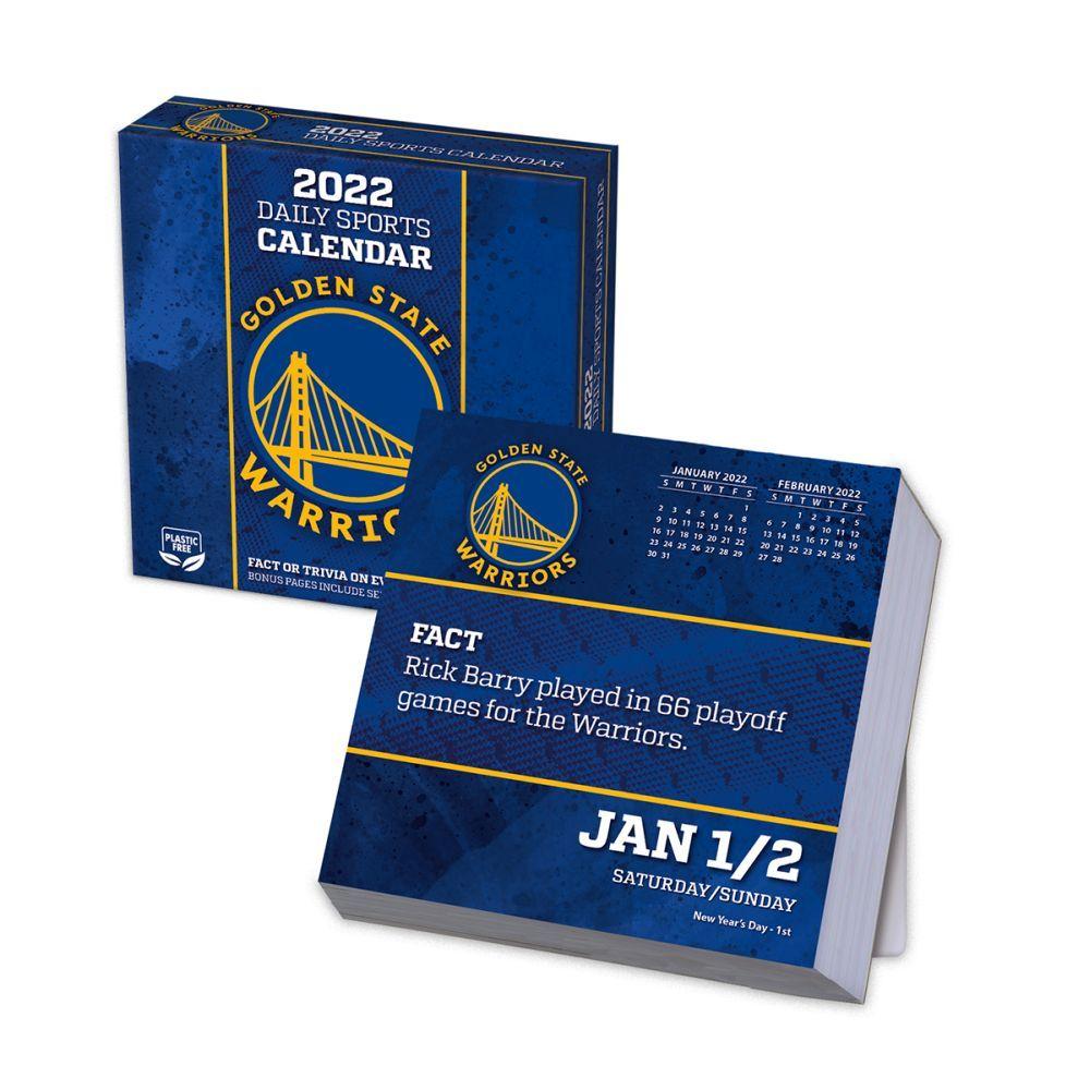 Golden State Warriors 2022 Desk Calendar