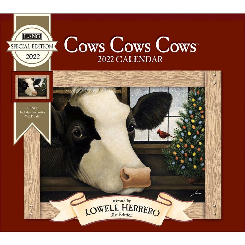 Cows Cows Cows 2022 Special Edition Wall Calendar