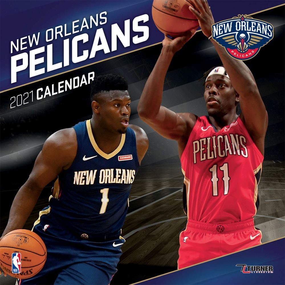2021 New Orleans Pelicans Team Wall Calendar