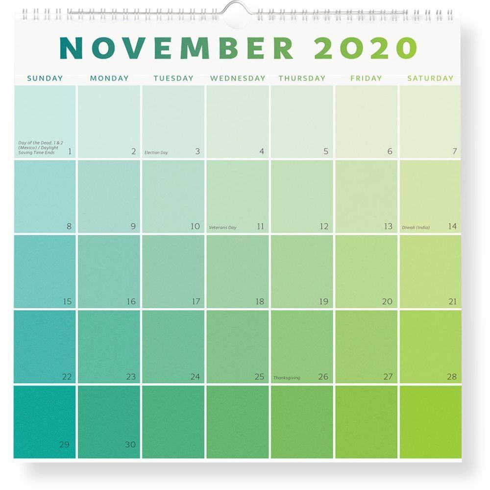 2021 Paint Chip Wall Calendar