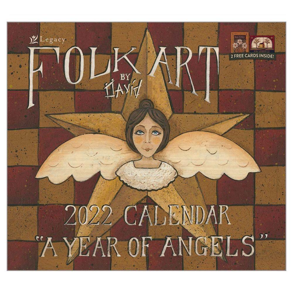 Folk Art by David 2022 Wall Calendar