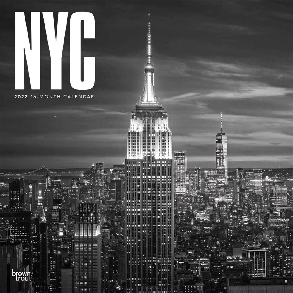 New York City Black and White 2022 Wall Calenda
