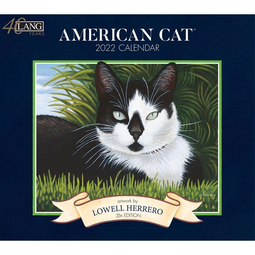 American Cat 2022 Wall Calendar