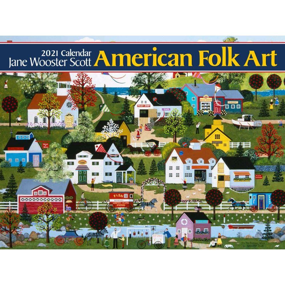 2021 American Folk Art Wall Calendar