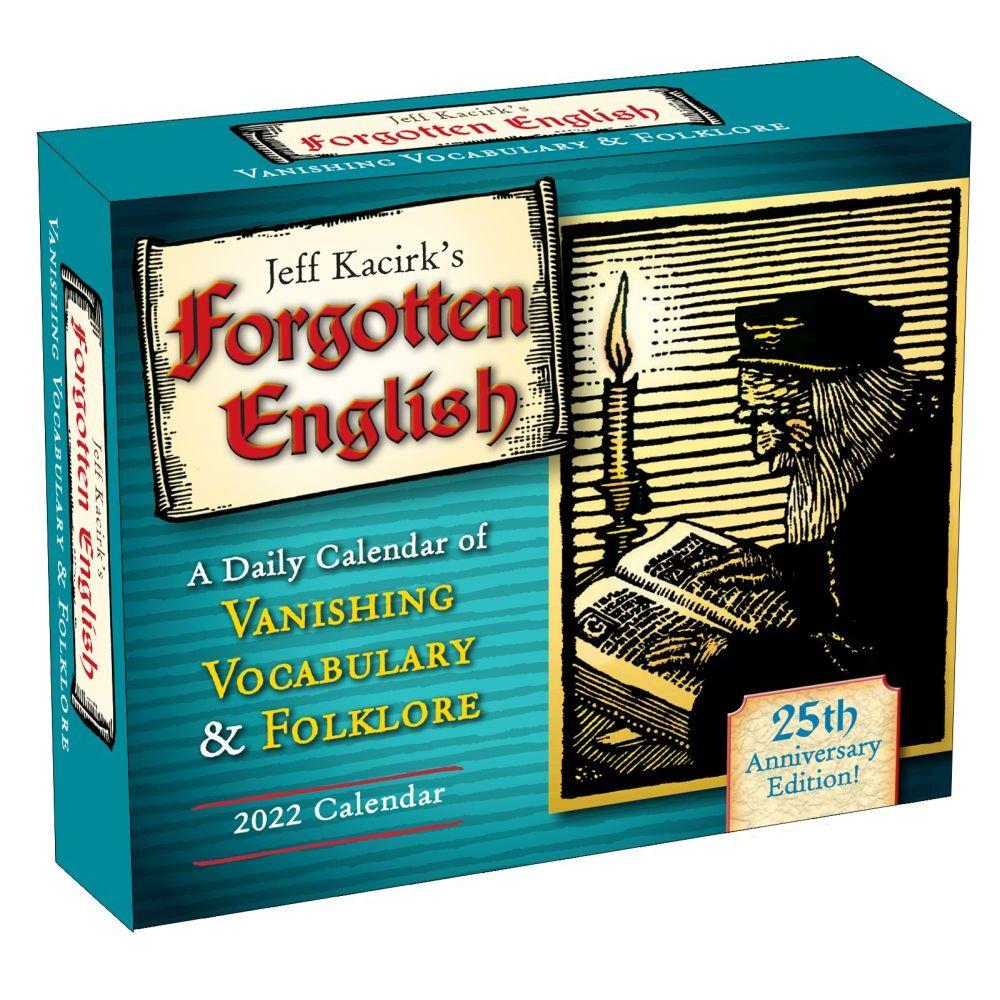 Forgotten English 2022 Desk Calendar