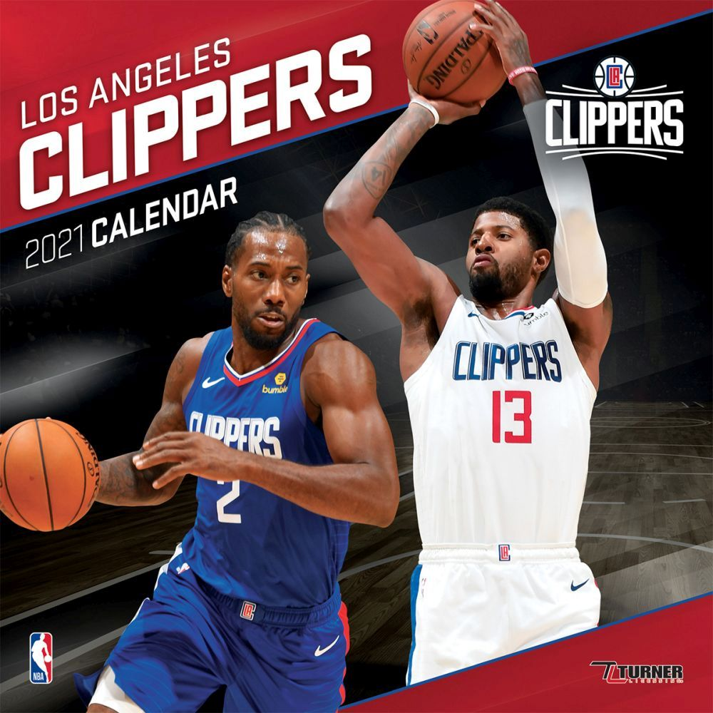 2021 NBA Los Angeles Clippers Wall Calendar