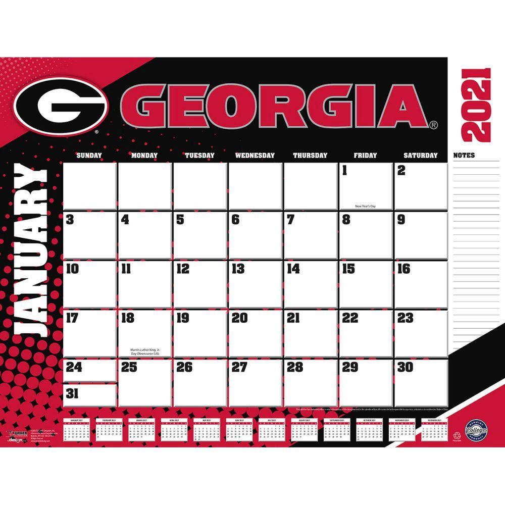Georgia Bulldogs 2021 Desk Pad