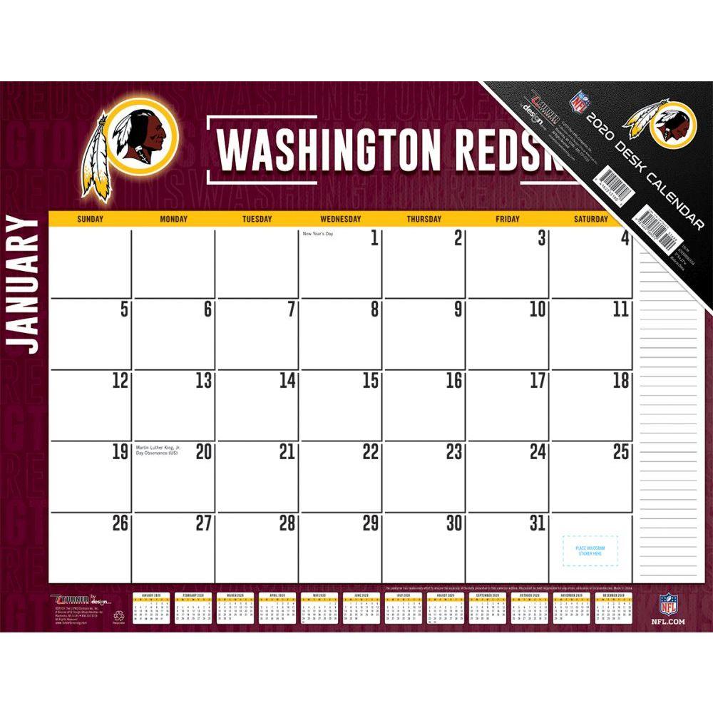 Washington Redskins 2021 Desk Pad