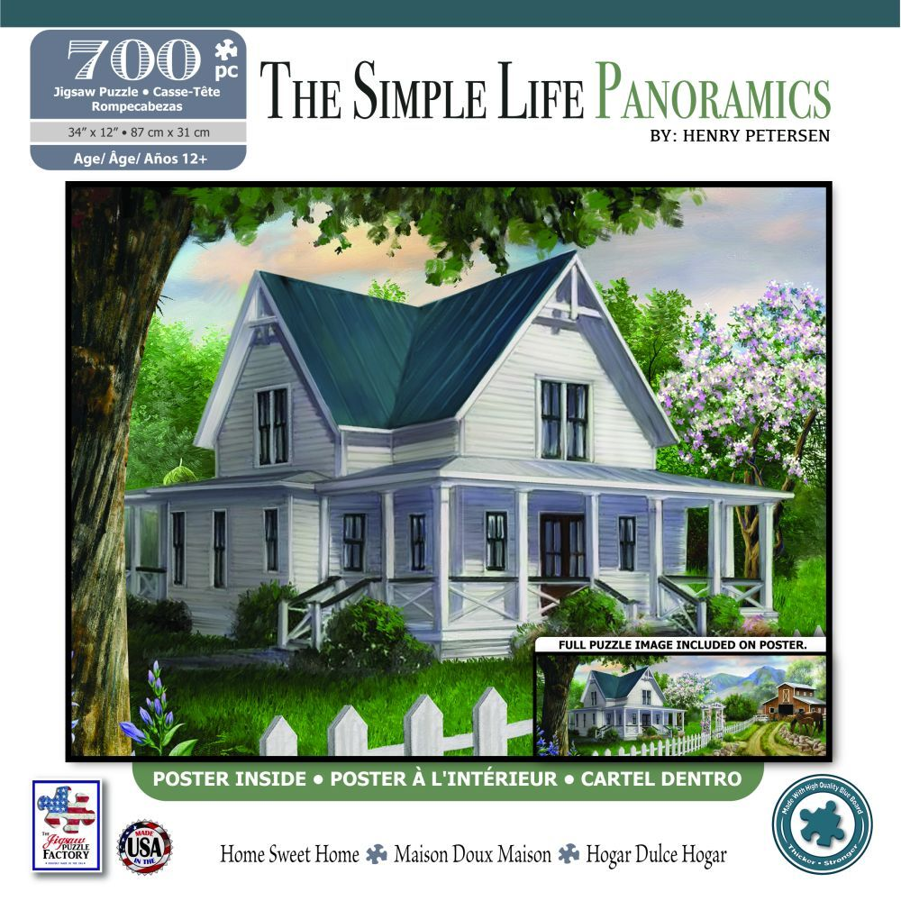 Best Panoramic Home Sweet Home 700 pc puzzle You Can Buy