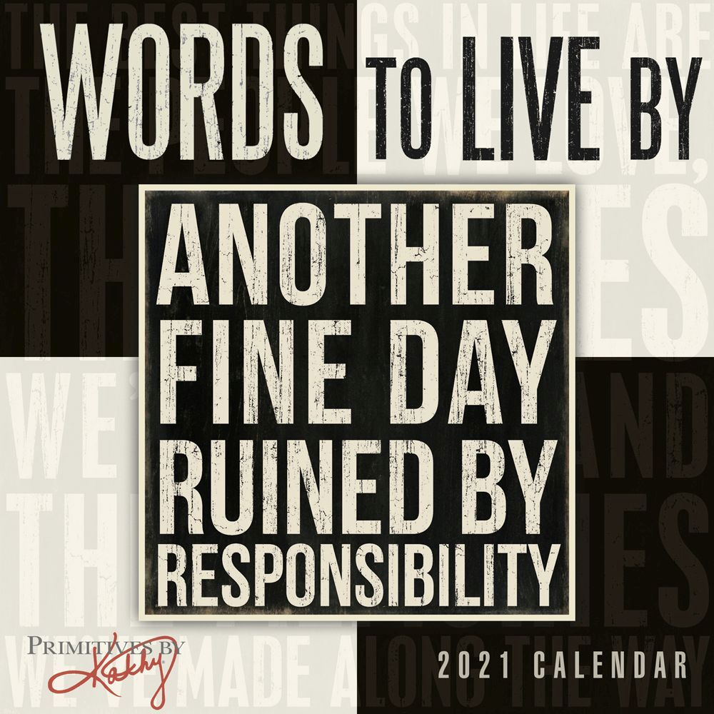 2021 Words to Live By Mini Wall Calendar