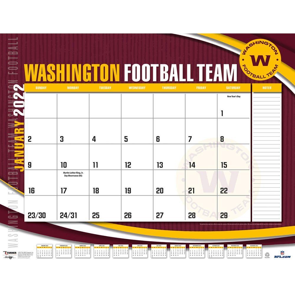 Washington Redskins 2022 Desk Pad