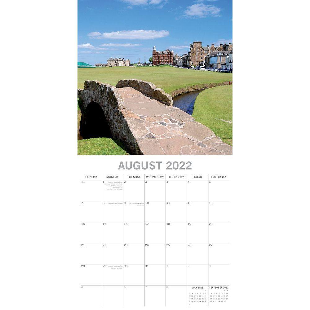 The World of Golf 2022 Wall Calendar