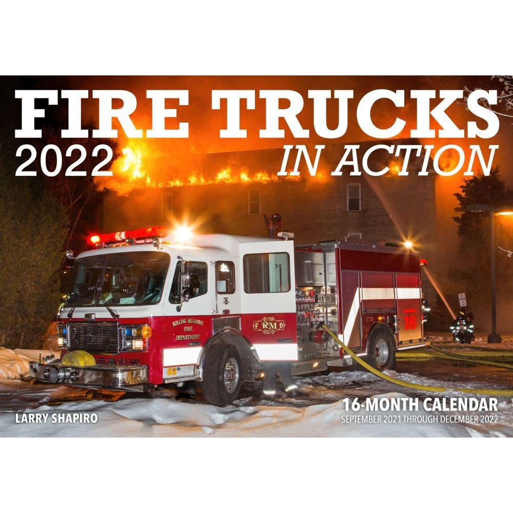 Fire Trucks in Action 2022 Wall Calendar
