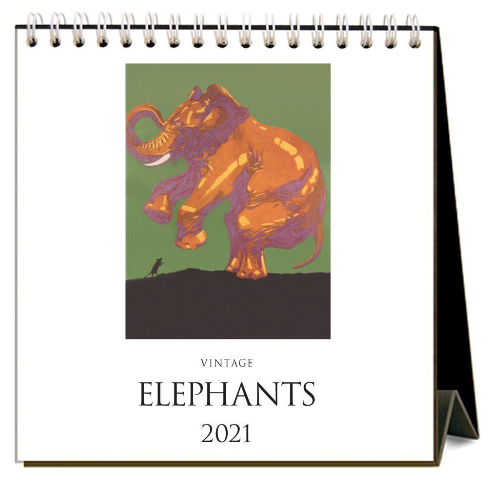 2021 Elephants Easel Calendar