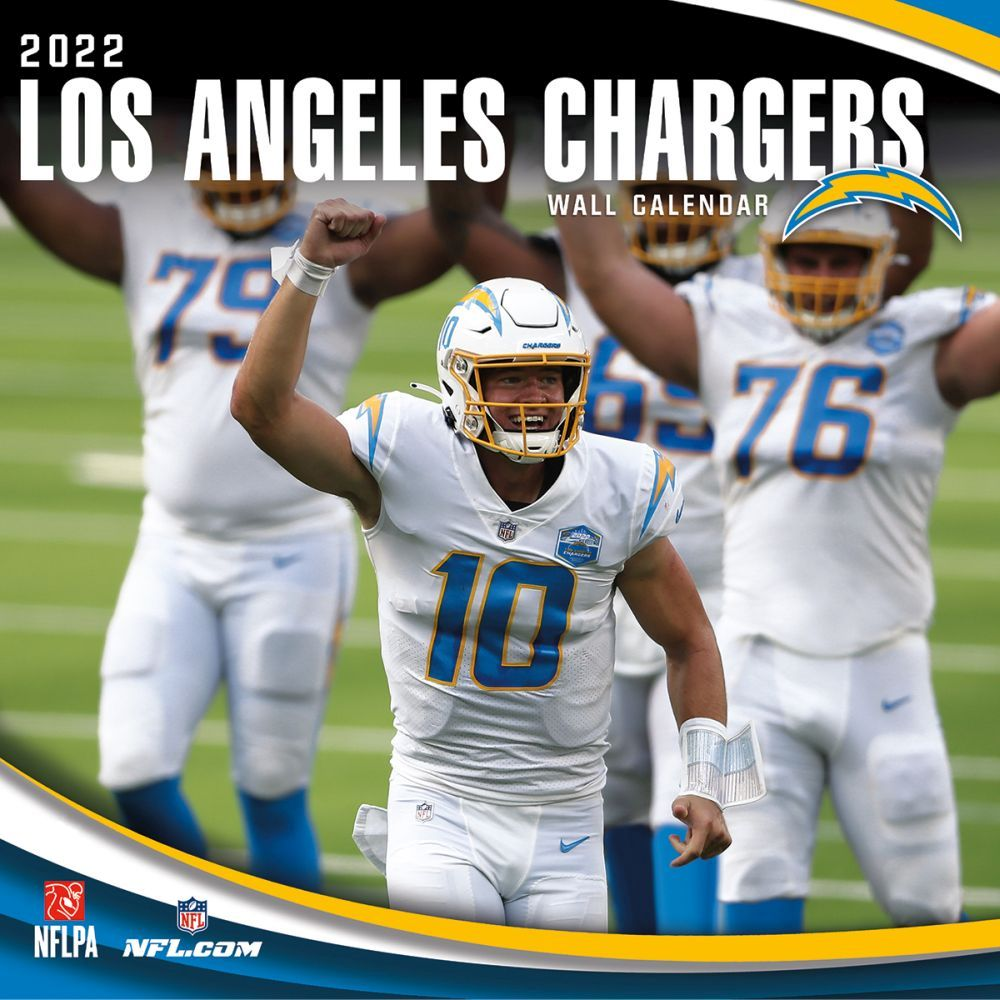 Los Angeles Chargers 2022 Wall Calendar