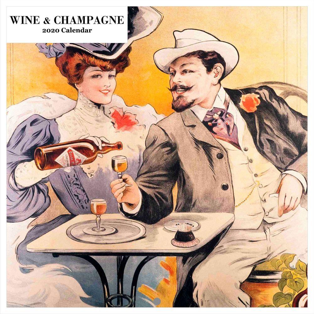 Wine And Champagne Calendar 2021 Wall Calendar