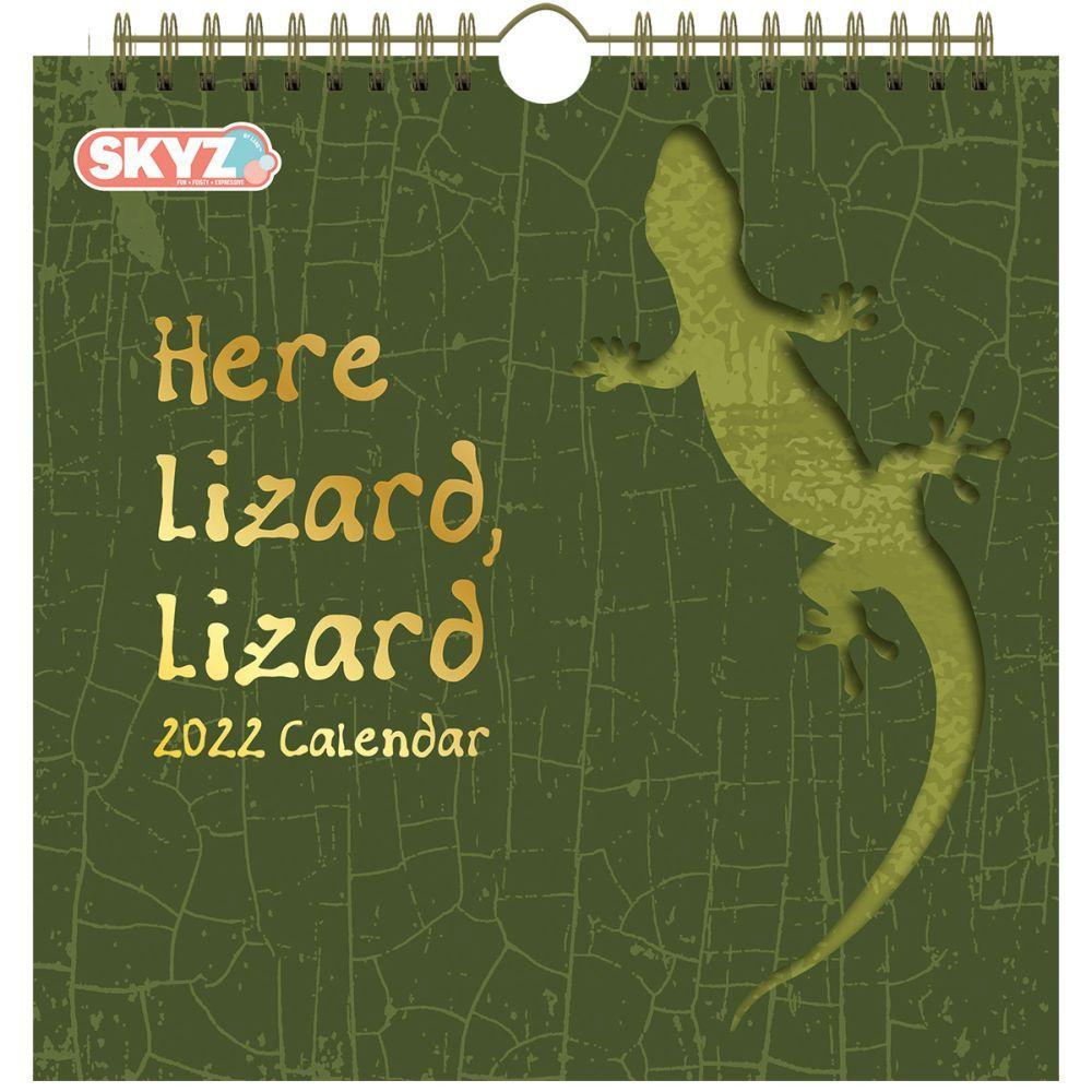 Here Lizard Lizard 2022 Die Cut Wall Calendar