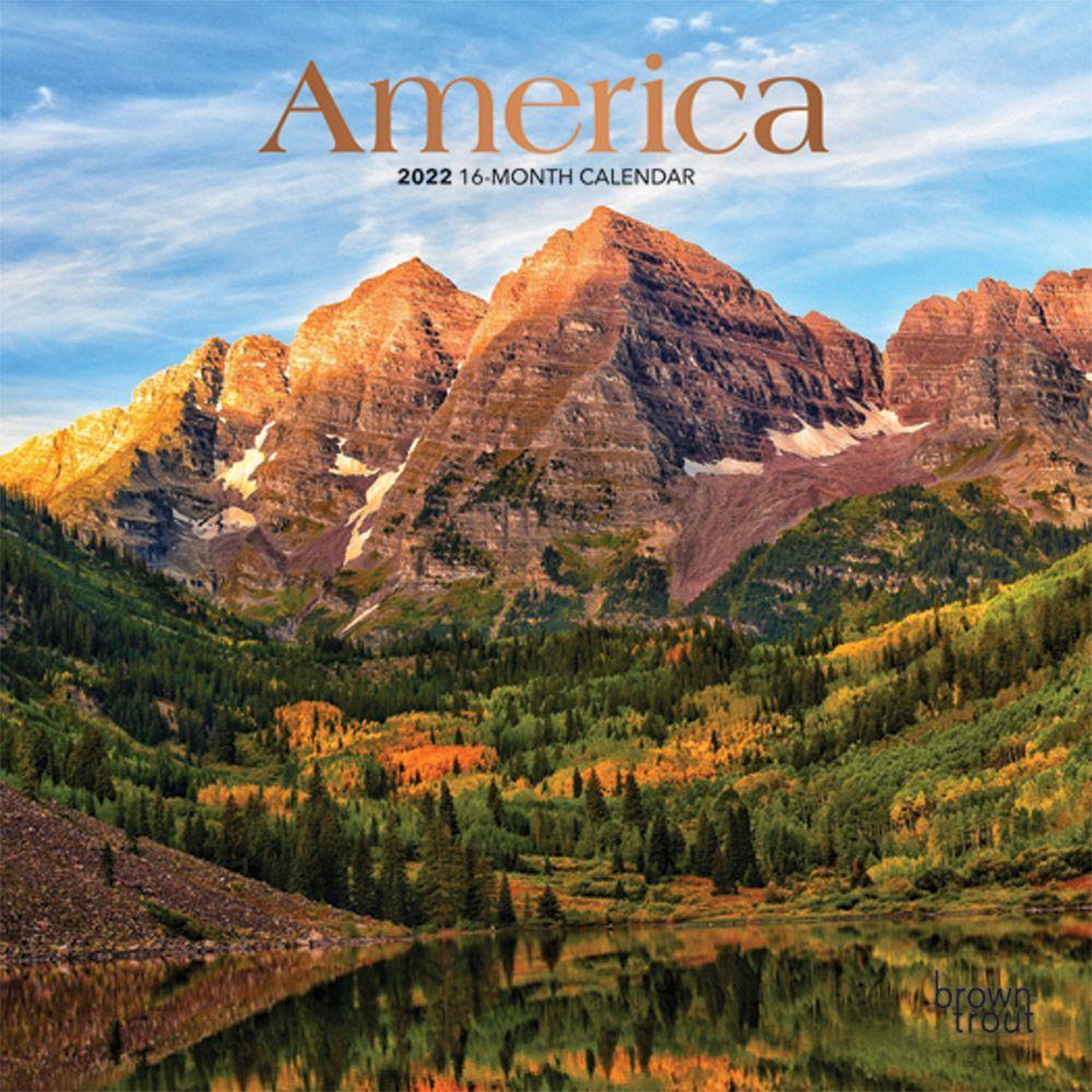 America 2022 Mini Wall Calendar