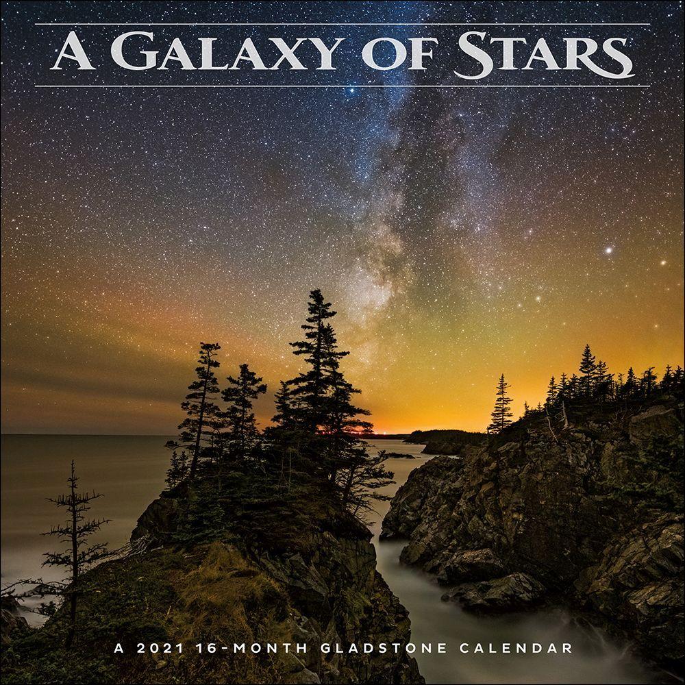 2021 Galaxy Of Stars Wall Calendar