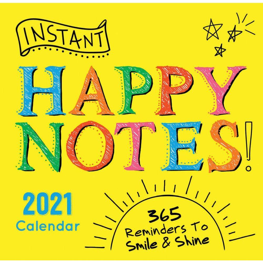 2021 Instant Happy Notes Desk Calendar