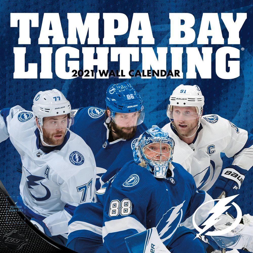 Tampa Bay Lightning Team 2021 Wall Calendar