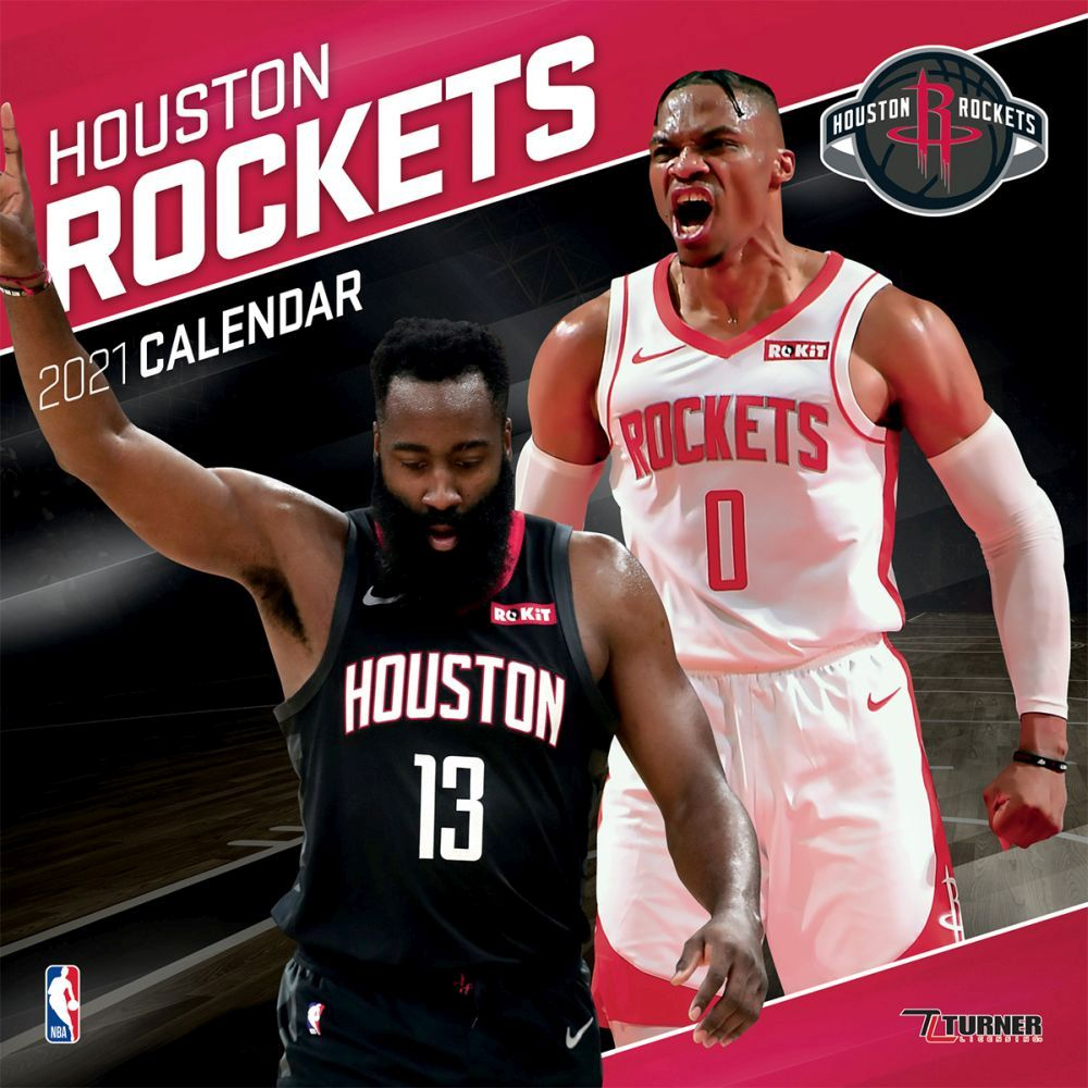 2021 Houston Rockets Team Wall Calendar