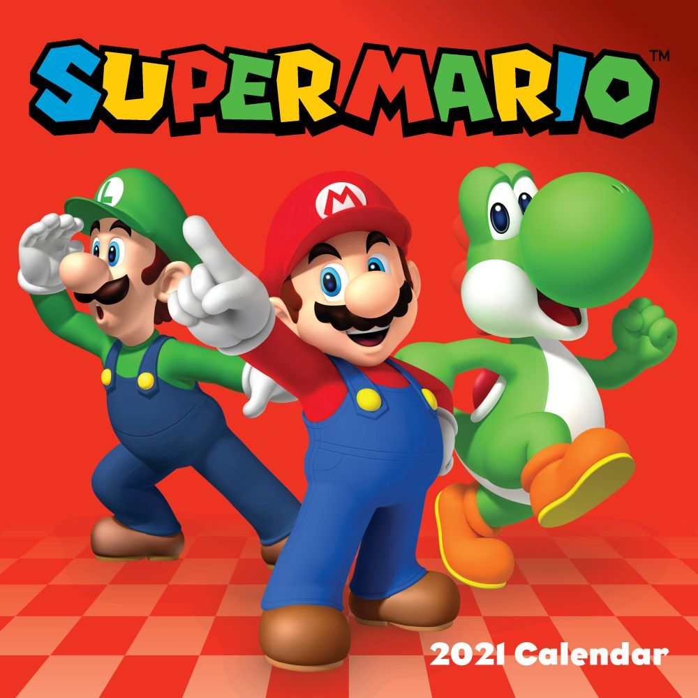 The Official Super Mario Brothers 2021 Wall Calendar