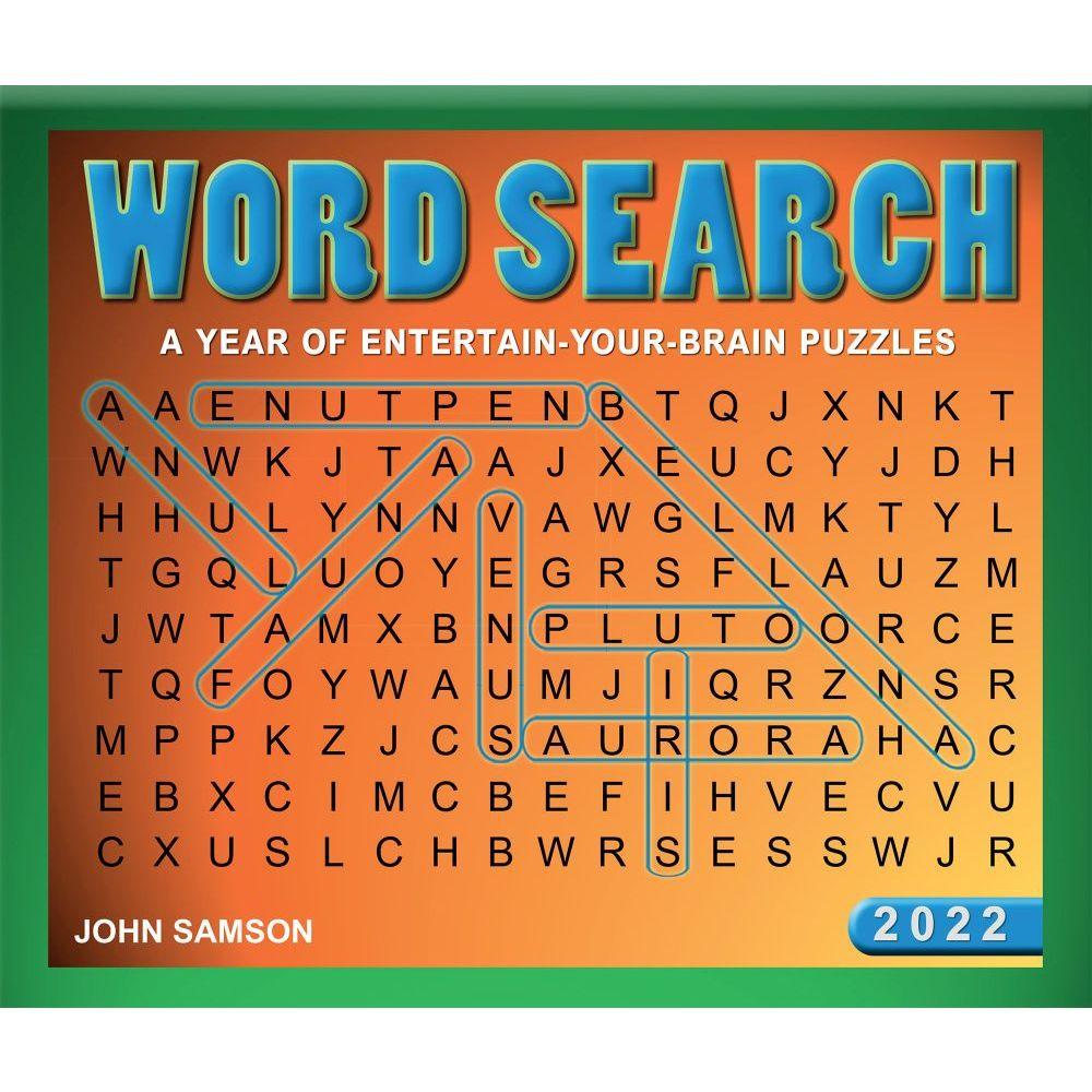 Word Search 2022 Desk Calendar