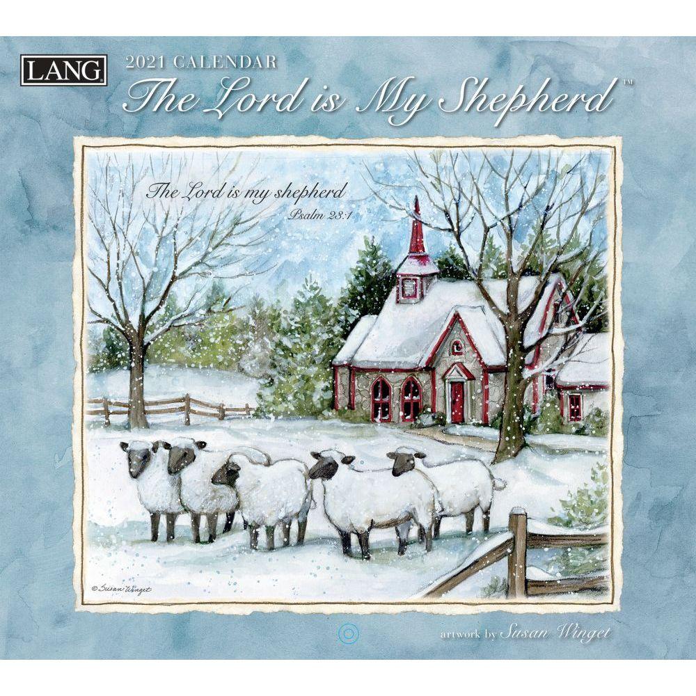 2021 The Lord is My Shepherd Wall Calendar by Susan Winget