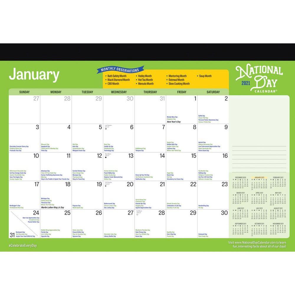 2021 National Day Desk Pad Calendar