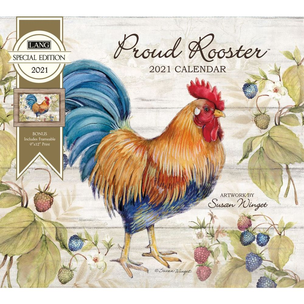 2021 Proud Rooster Special Edition Wall Calendar