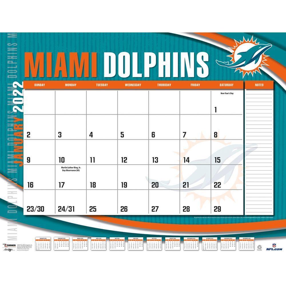 Miami Dolphins 2022 Desk Pad