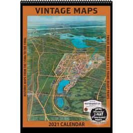 Maps Vintage Poster Wall Calendar