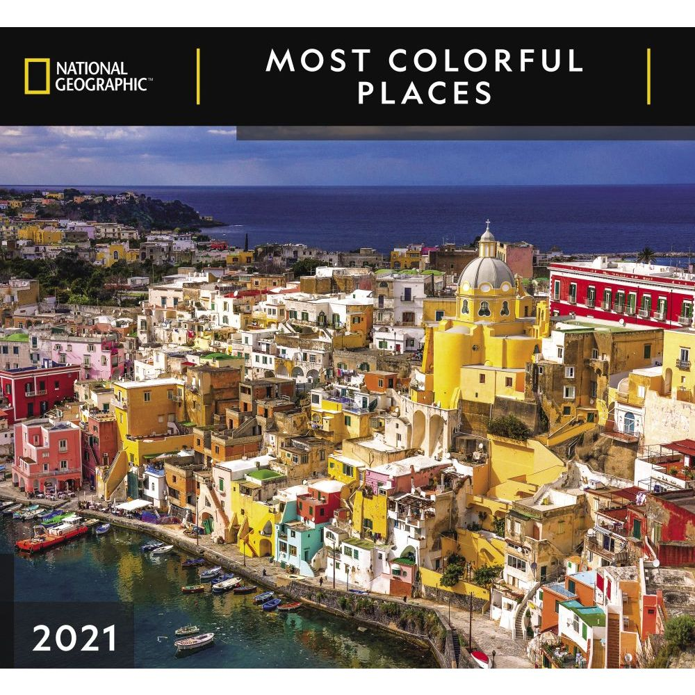 2021 Most Colorful Places National Geographic Wall Calendar