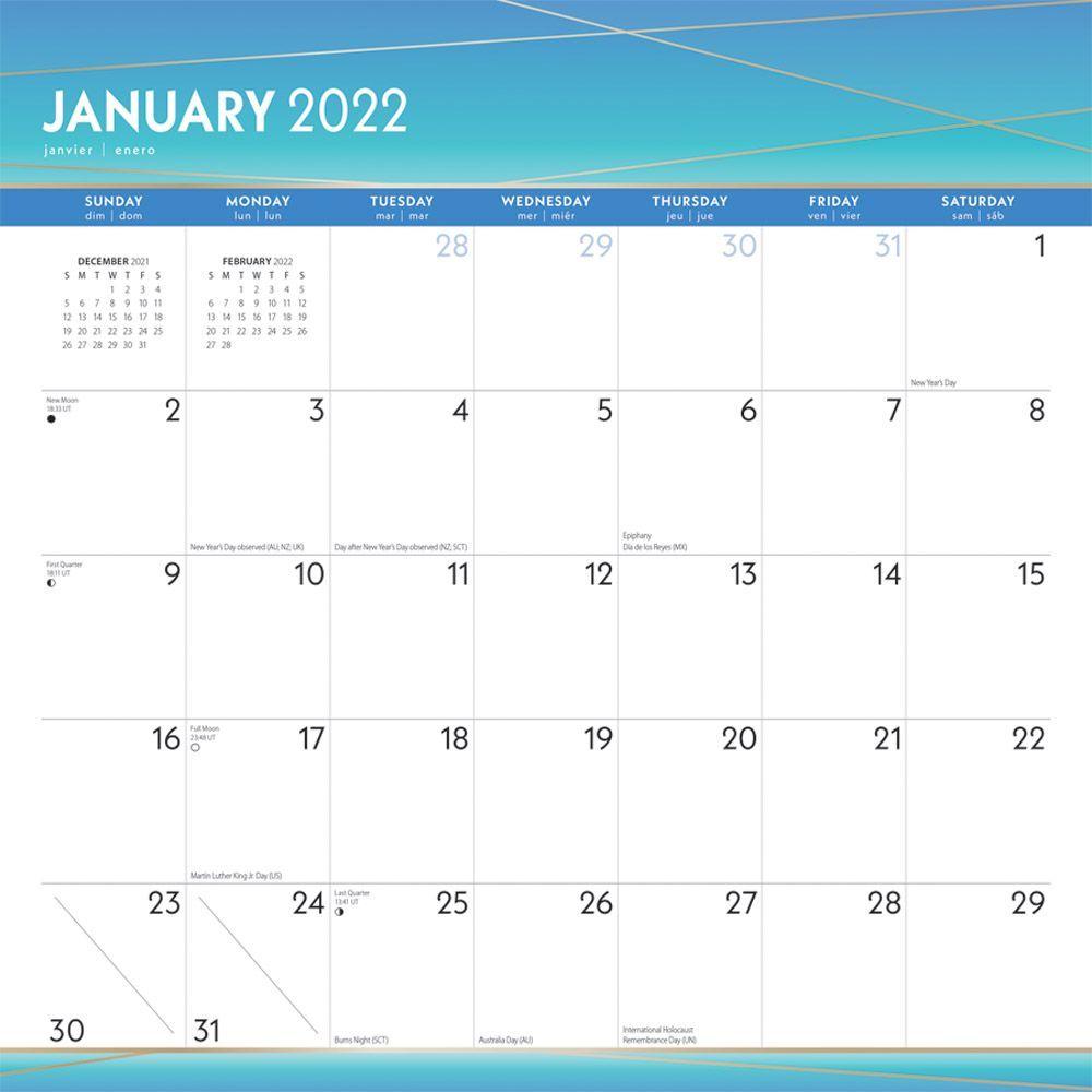 Seaside Currents 2022 Wall Calendar