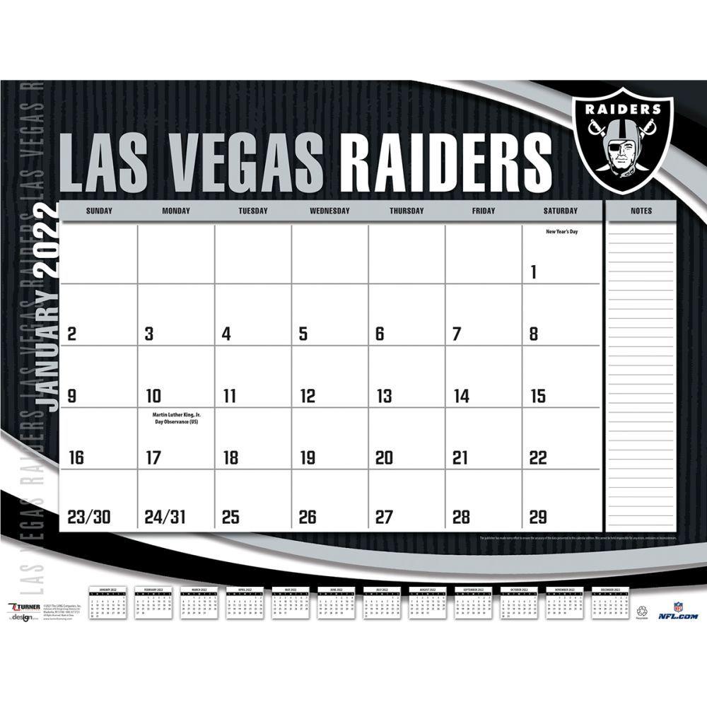 Las Vegas Raiders 2022 Desk Pad