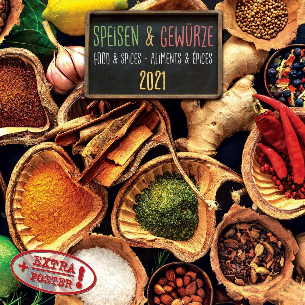 2021 Kitchen Spices Wall Calendar