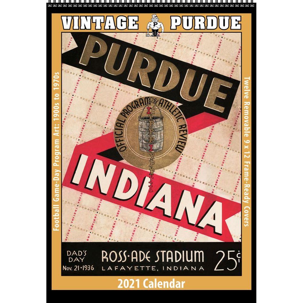 Vintage Purdue Boilermakers Football 2021 Poster Calendar