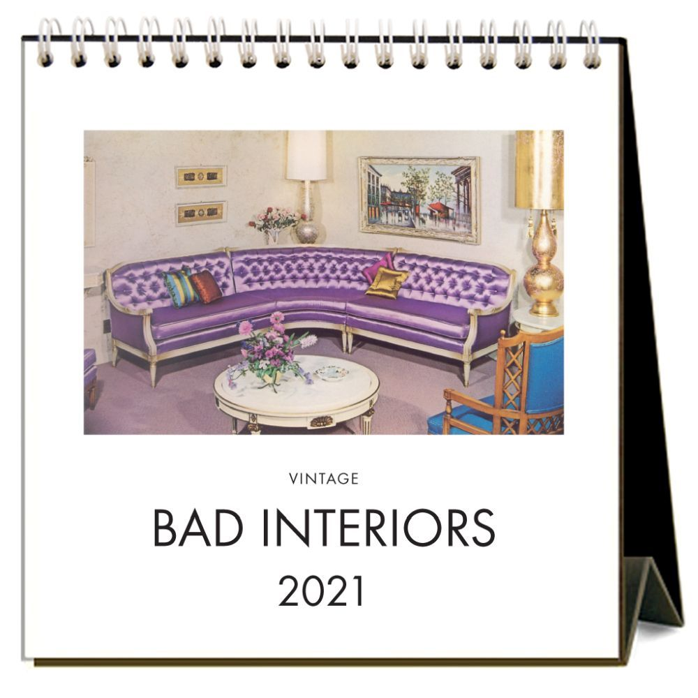 2021 Bad Interiors Easel Calendar