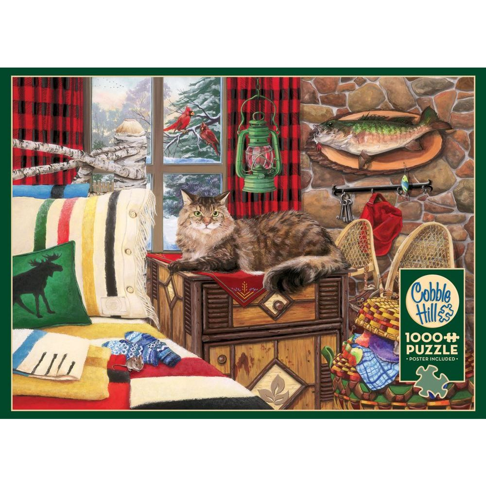 Best Lodge Cat 1000pc Puzzle You Can Buy