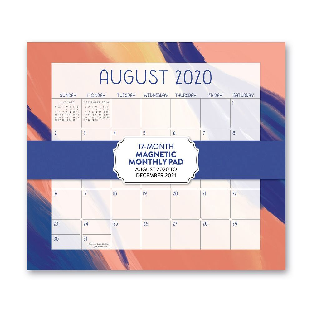 2021 Muted Brushstrokes Magnetic Calendar