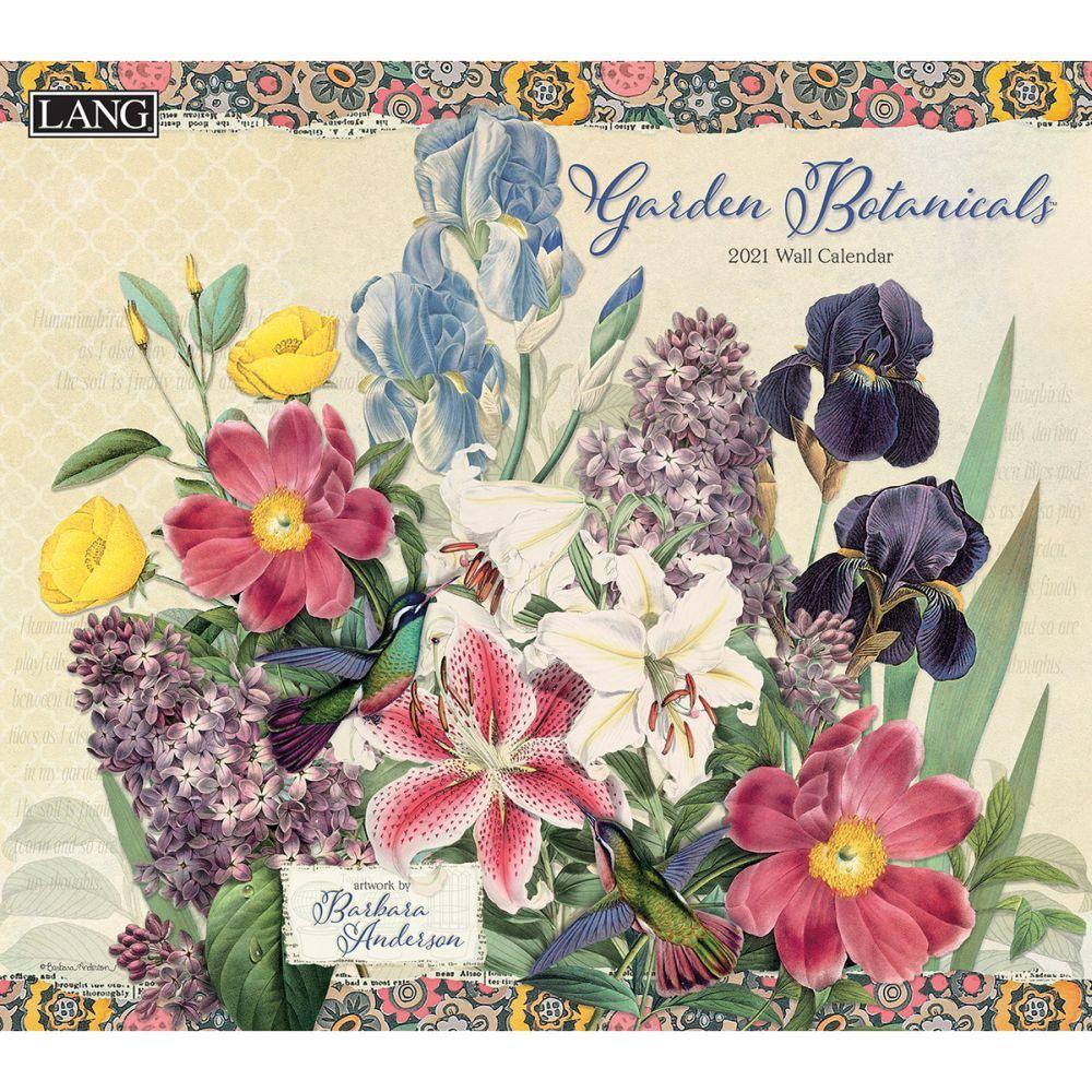 2021 Garden Botanicals Wall Calendar by Barbara Anderson