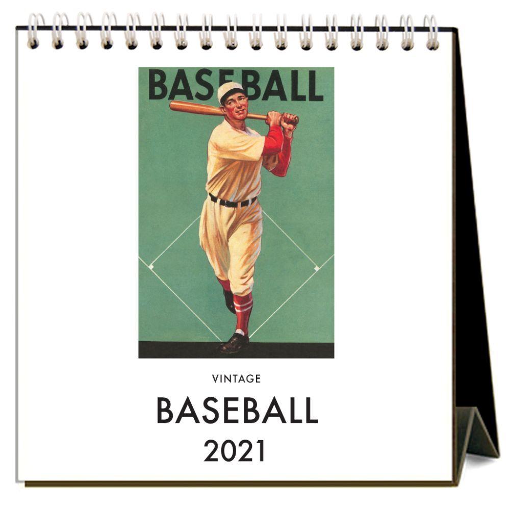Vintage Baseball 2021 Easel Desk Calendar