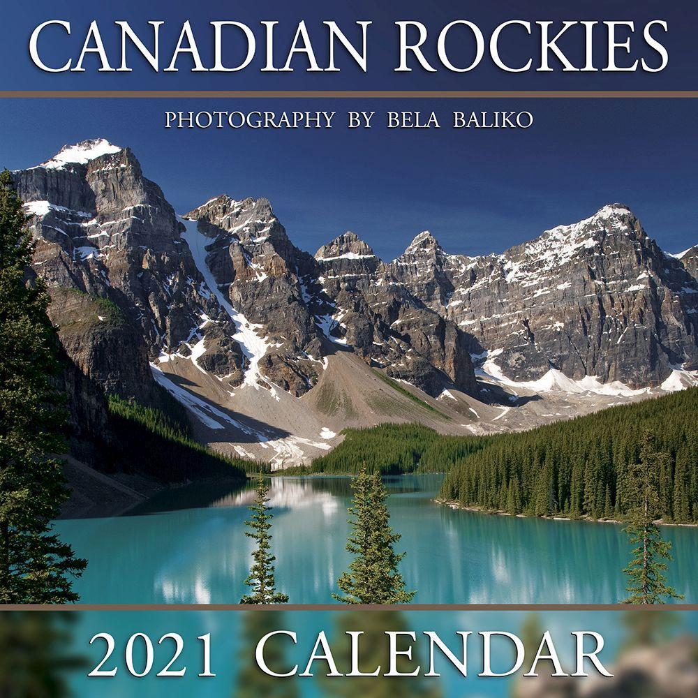 2021 Canadian Rockies Moraine Lake Mini Wall Calendar