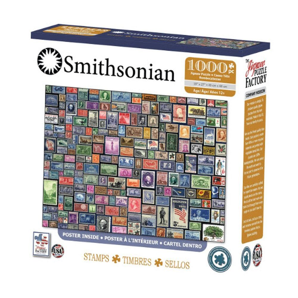 Best Smithsonian Stamps 1000 pc Puzzle You Can Buy