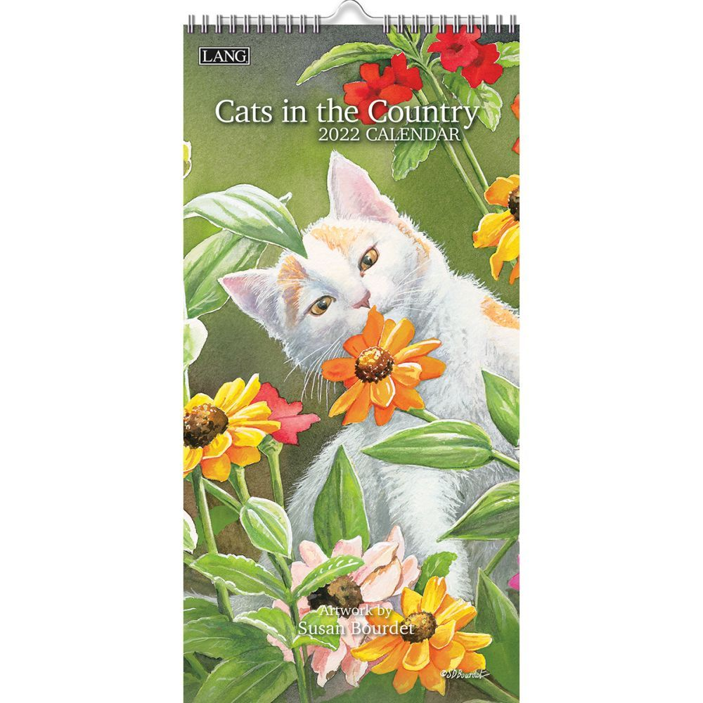 Cats In The Country 2022 Vertical Wall Calendar