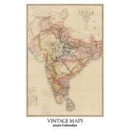 Vintage Maps Poster Wall Calendar