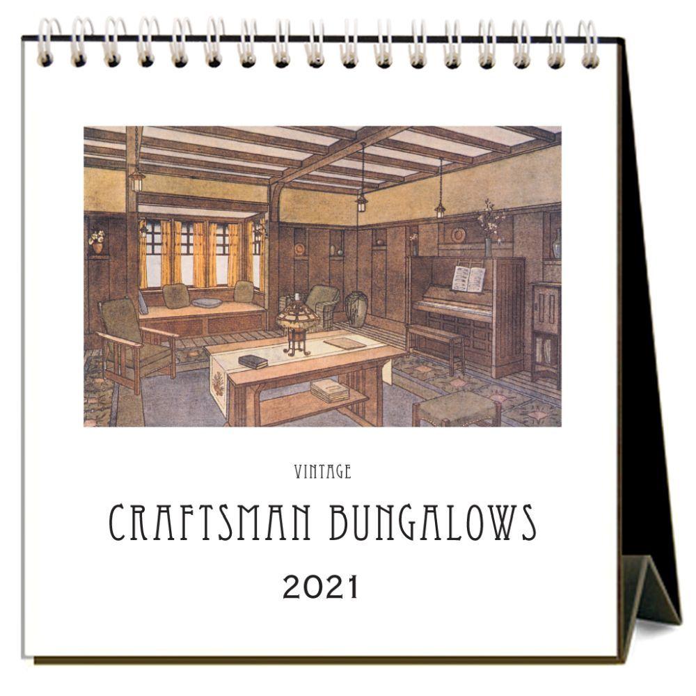 2021 Craftsman Bungalows Easel Calendar