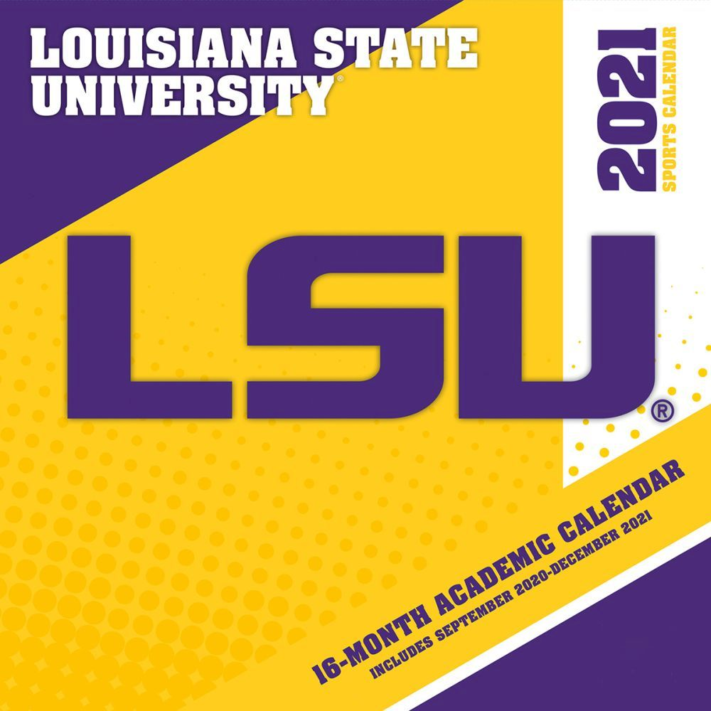 Louisiana State University Tiger Football 2021 Wall Calendar